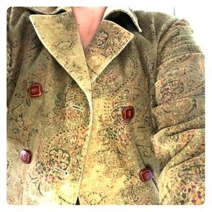 Express size 2 green paisley raincoat